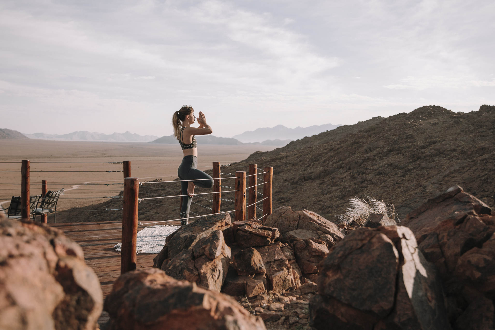 Malerische Landschaft der Namib-Wüste