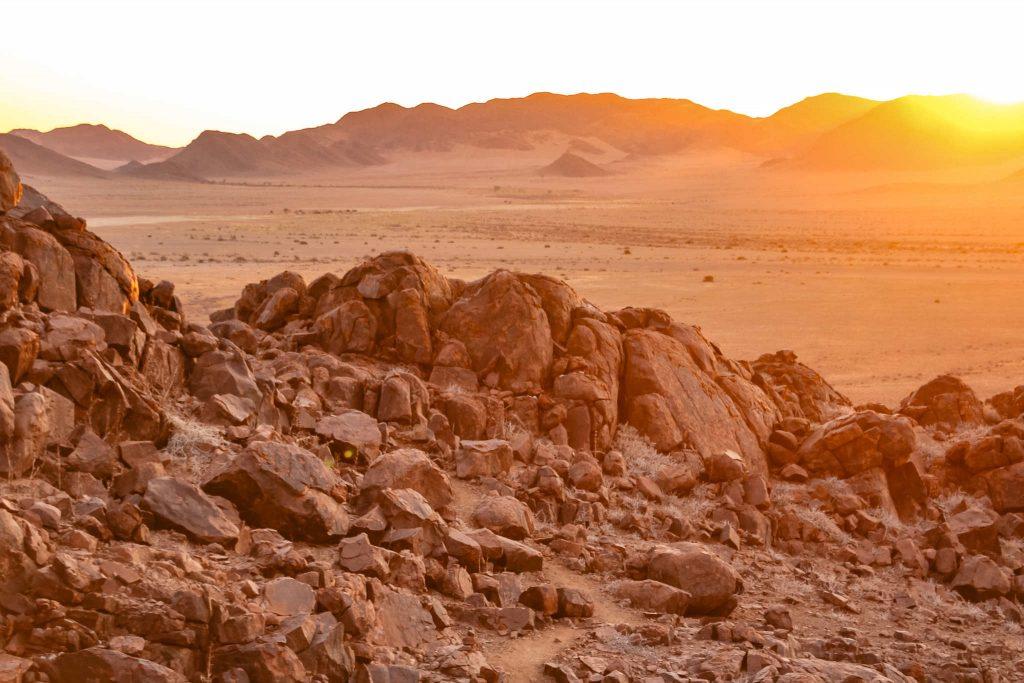 Namib-Wüste bei Sonnenuntergang