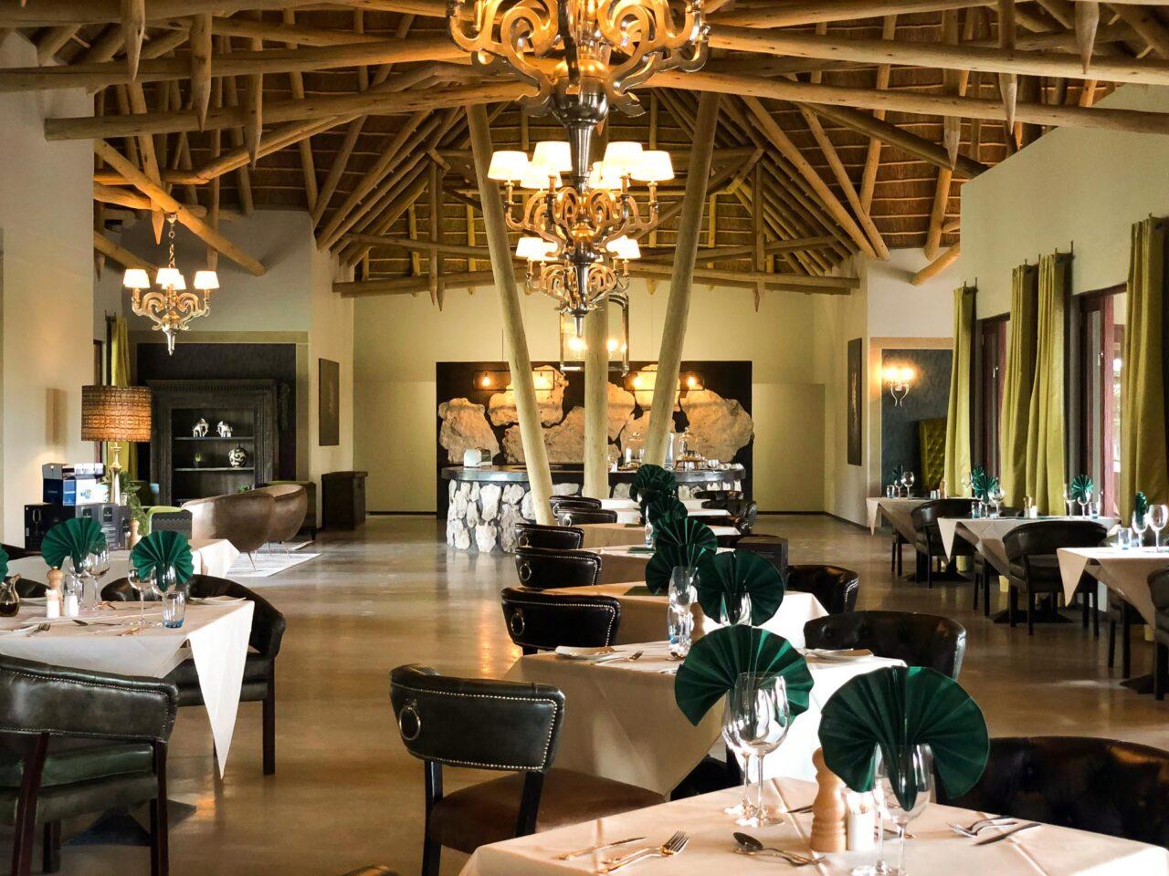 Restaurant der Etosha Oberland Lodge