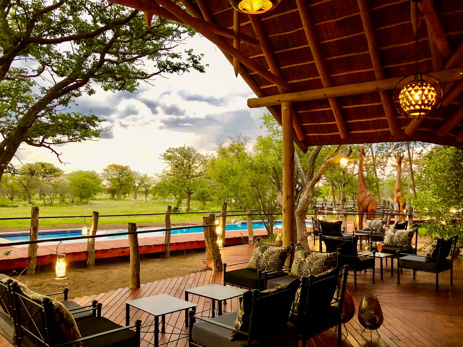 Etosha Oberland Lodge pool restaurant